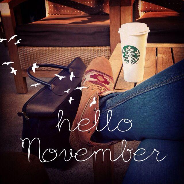 Hello november #november #autumn #boots #coffe #starbucks #fall #cute