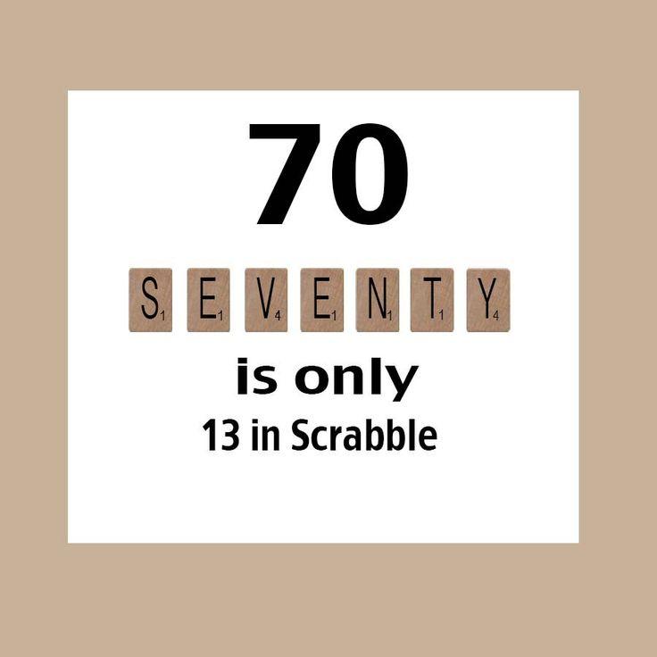 70th Birthday Card, Milestone Birthday, 70th Birthday, Scrabble Birthday Card, Scrabble, The Big 70 by DaizyBlueDesigns on Etsy