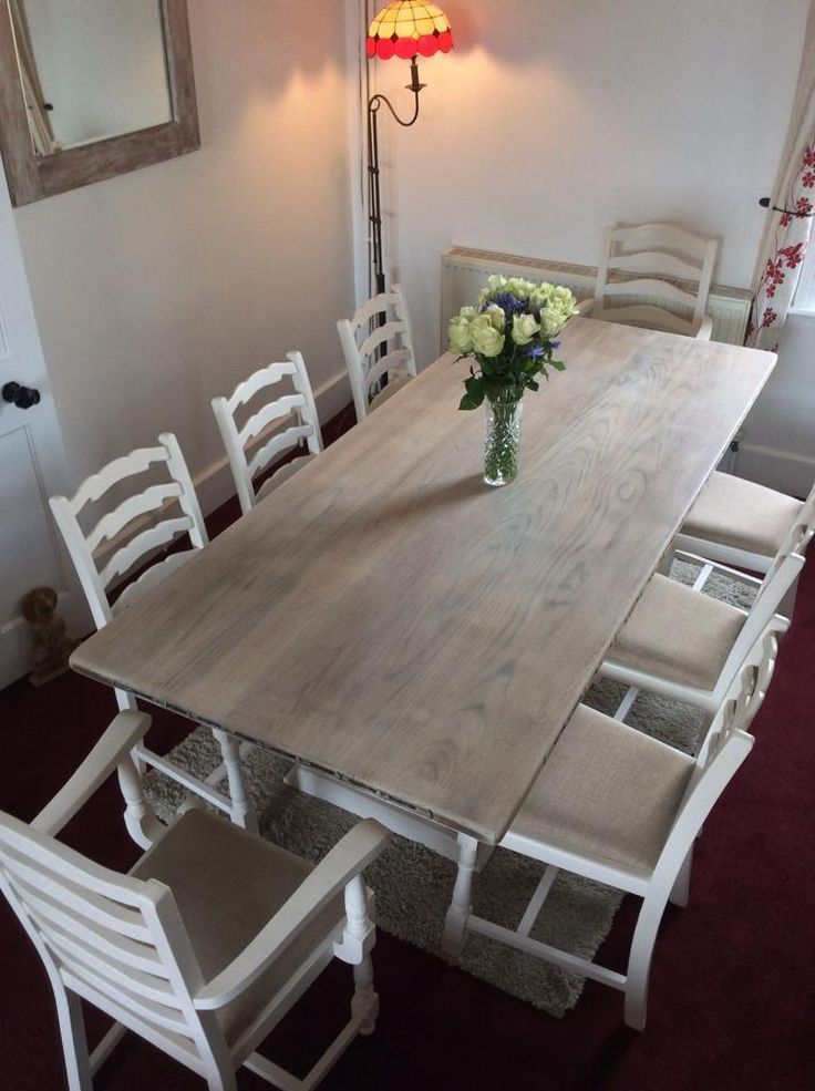 Stunning Refurbished 8 seater solid oak table and chairs ( Webber of Croydon) | in St Leonards-on-Sea, East Sussex | Gumtree