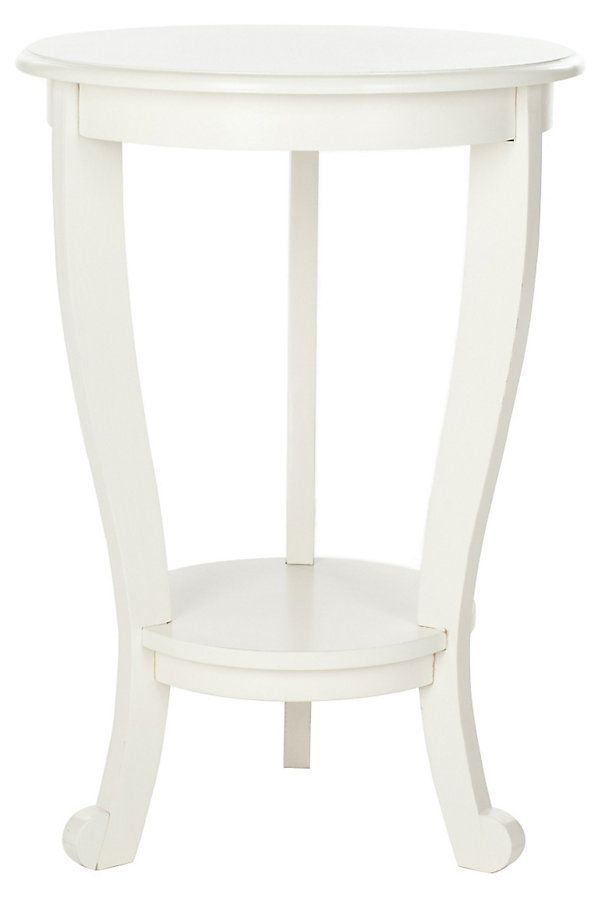 One Kings Lane   The Country Cottage   Wheaton Pedestal Side Table, White