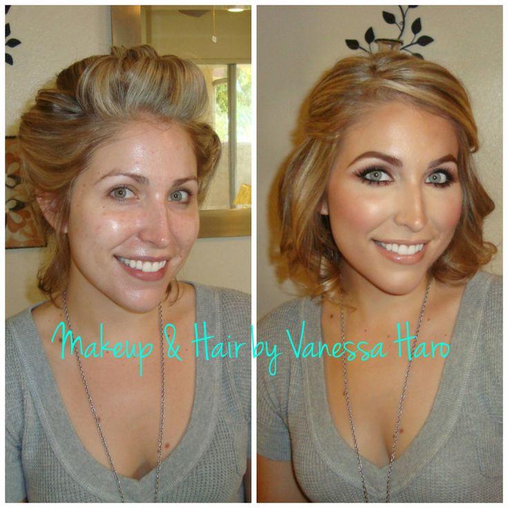 Bride Wedding Bridal Engagement Glam Makeup Contour Highlight