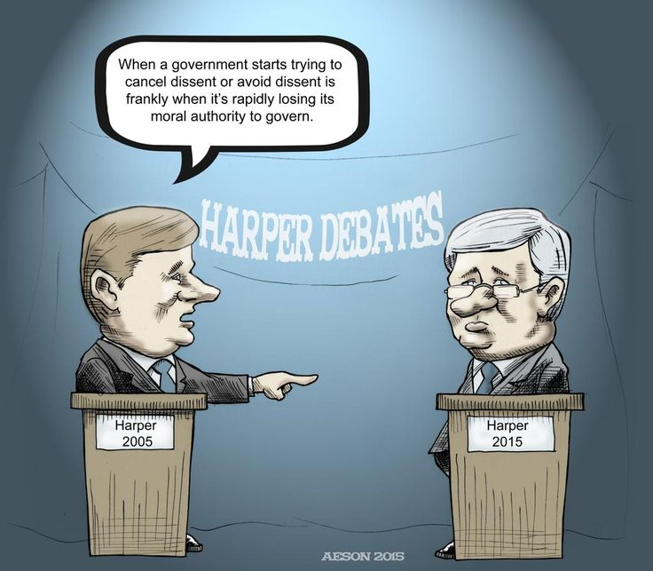 "Harper on #Harper: ""You've lost your moral authority to govern."" #elxn42 #Cdnpoli #Harper"