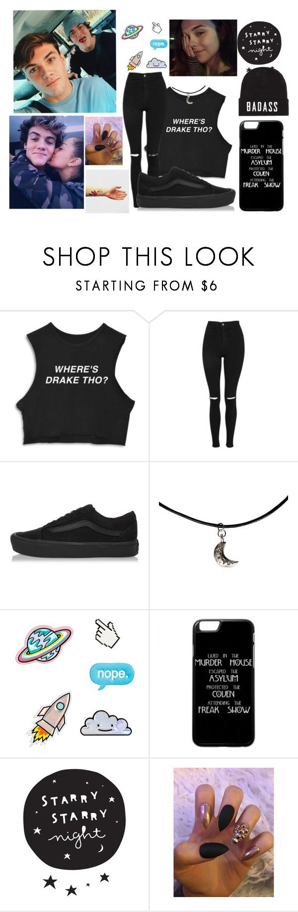 helping film ethan getting his wisdom teeth out;) by caylentrash on Polyvore featuring moda, Topshop, Vans, Dolan and Brinley Co