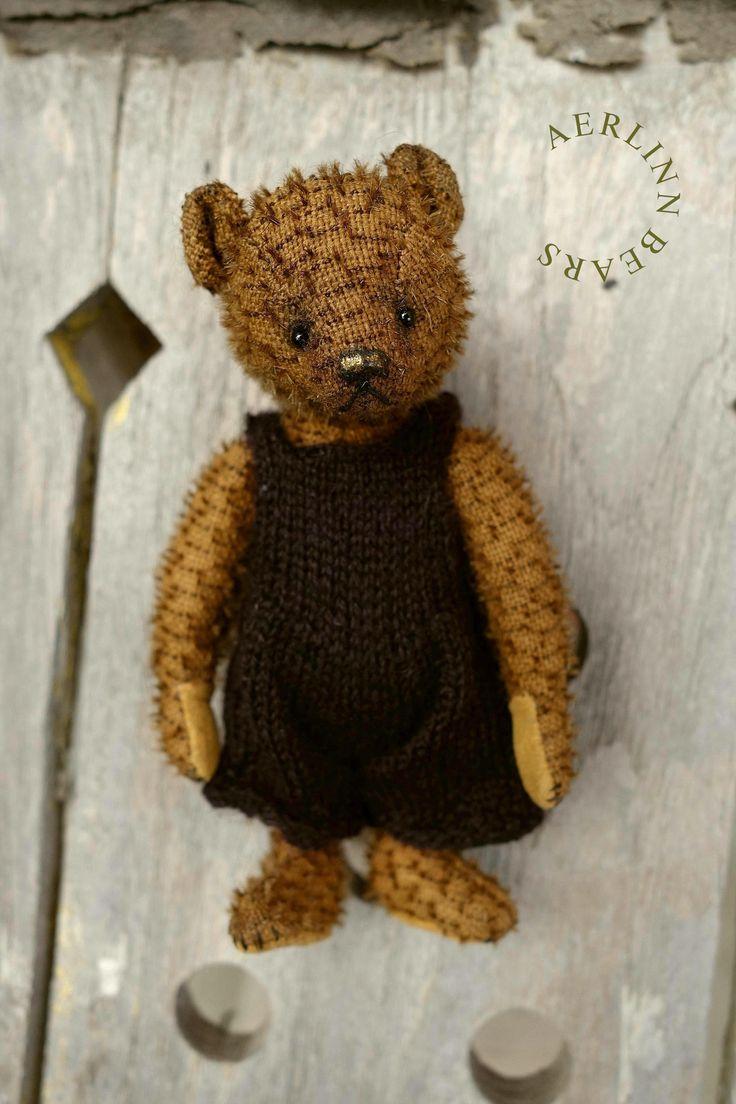 Meeka Girl, Miniature Mohair Artist Teddy Bear from Aerlinn Bears: