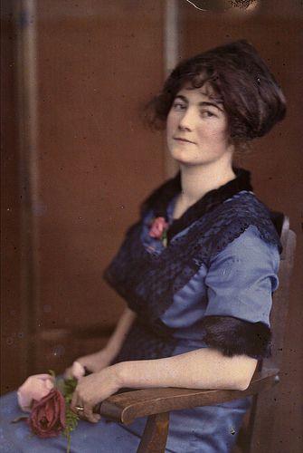 Autochrome Portrait of Hugo's wife