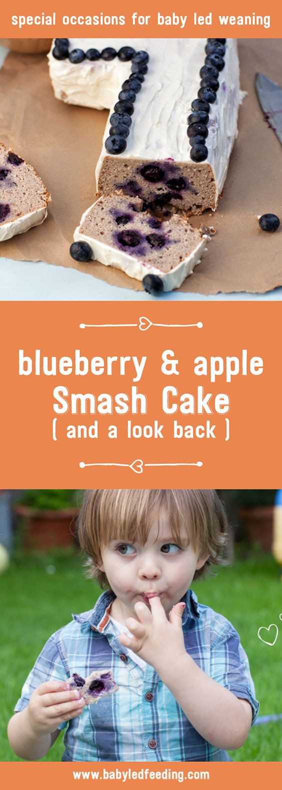 A delicious and super healthy birthday smash cake ideal for a baby led weaning very first birthday. Sweetened with only fruit and yummy!