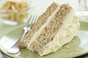 Banana Cake With Cream Cheese Icing- The most delicious way to use overripe bananas. This wonderfully moist cake is smothered in a smooth cream cheese frosting. The perfect dessert for sweet tooths, not-too-sweet tooths and everyone in between.