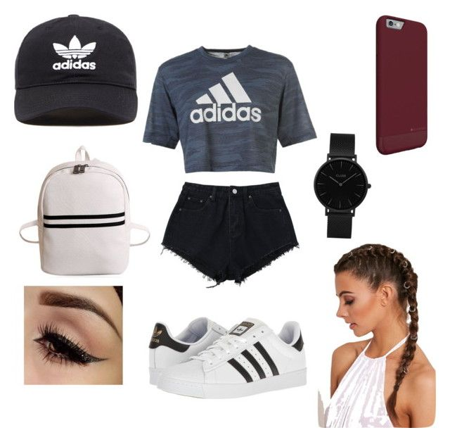 Grace's style by grace-karali on Polyvore featuring polyvore, moda, style, adidas, CLUSE, adidas Originals, fashion and clothing