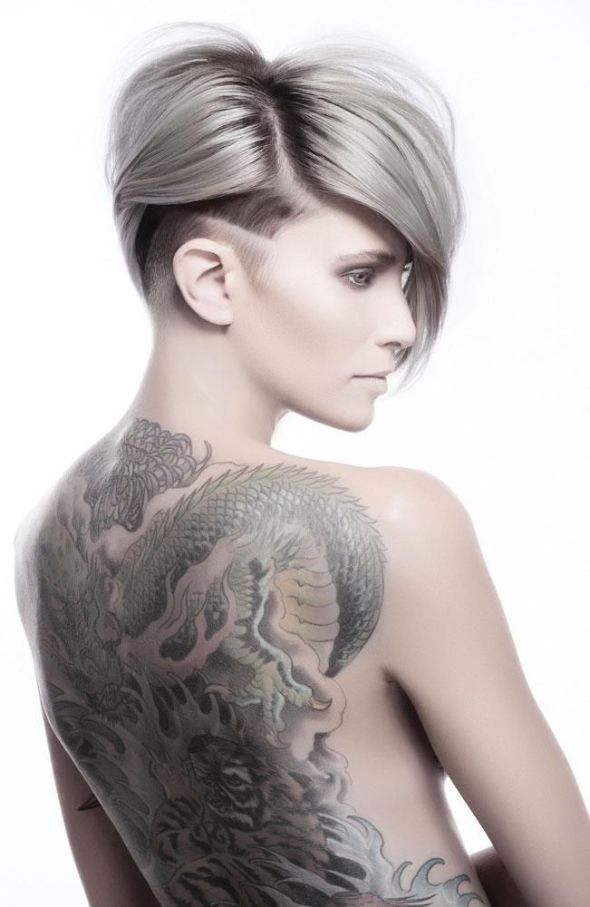 To celebrate the launch of the new Vibes color line, the L'Anza Creative Team of Matt Swinney, Ammon Carver, Leah Freeman and Natasja Keizjer abandons traditional salon techniques in favor of free-form creativity.