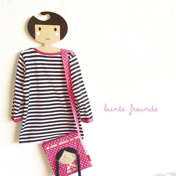 bunte freunde: Schwarz + Weiß + Pink = Shirt