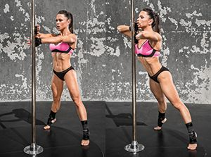 Total-Body Pole Workout - Channel your inner exotic dancer and limber up for some fun while getting a serious workout for your arms, back, abs, and legs