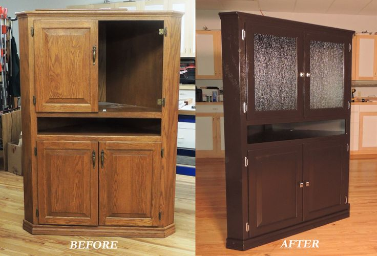 Entertainment center upcycled with general finishes java for Upcycled entertainment center