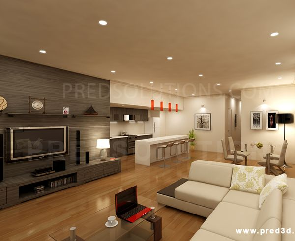 Stunning 3d Architectural Visualization from PredSolutions.com.