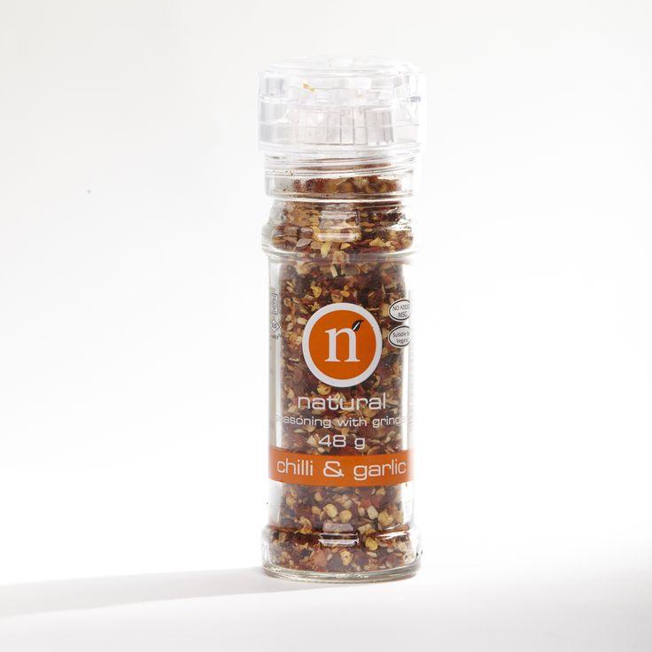 Chilli & garlic grinder @Natural Spices