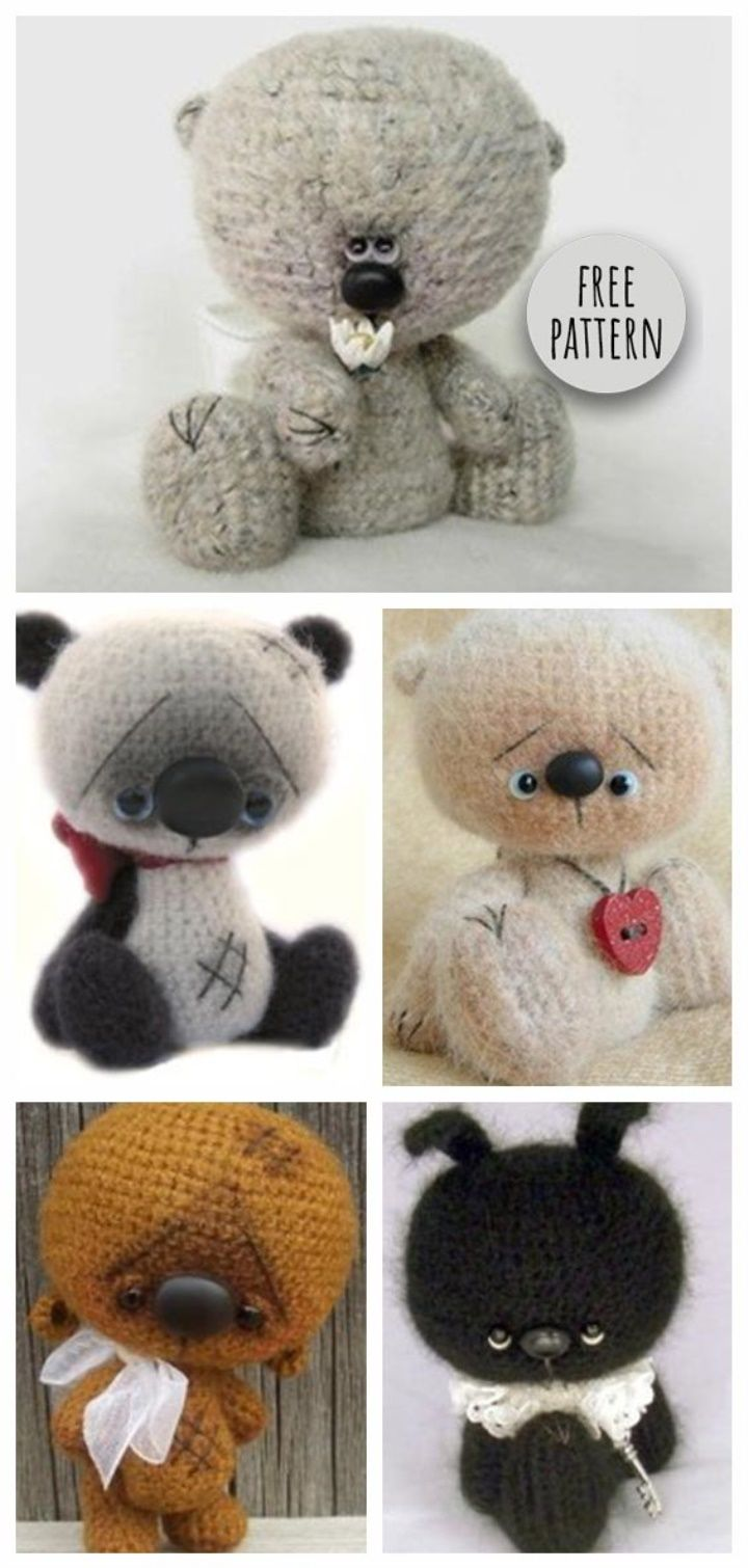 Bear and Bunny Free Pattern | I\'m In Stitches | Pinterest