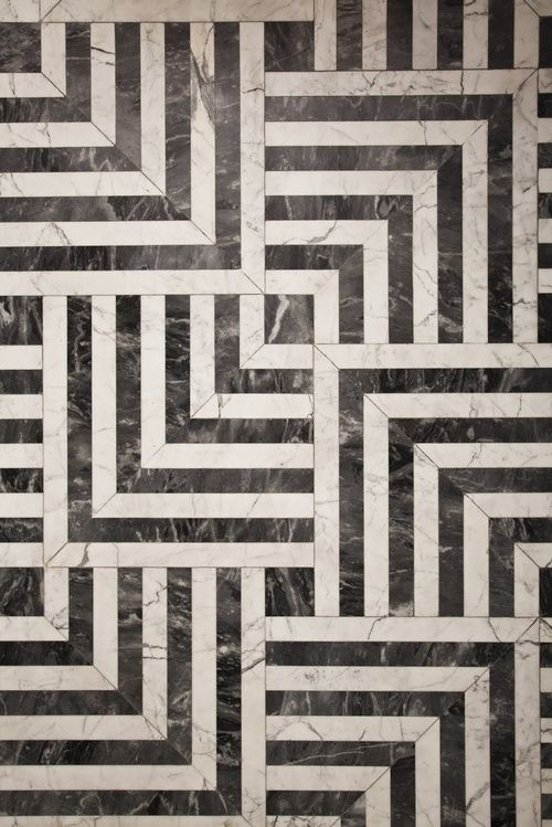 Black And White Forever #laurenmaximovich #interiordesign #texture.  Beautiful Marble Floor ...