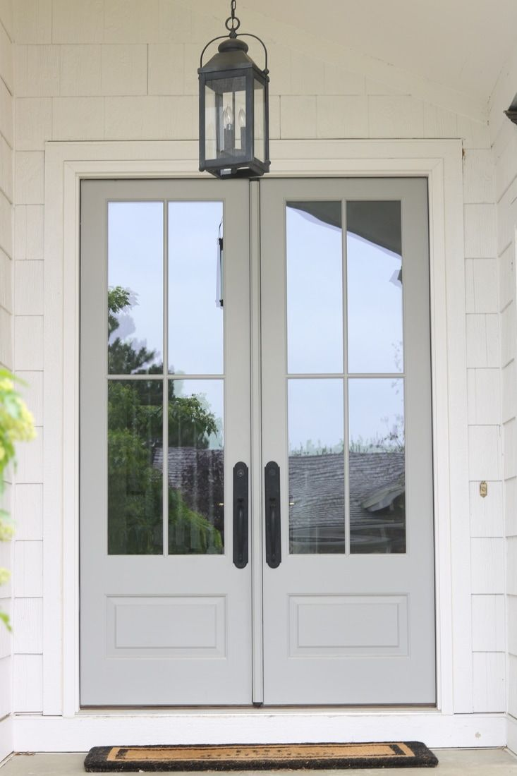 Our Front Entryway Post Remodel French Doors Exterior House
