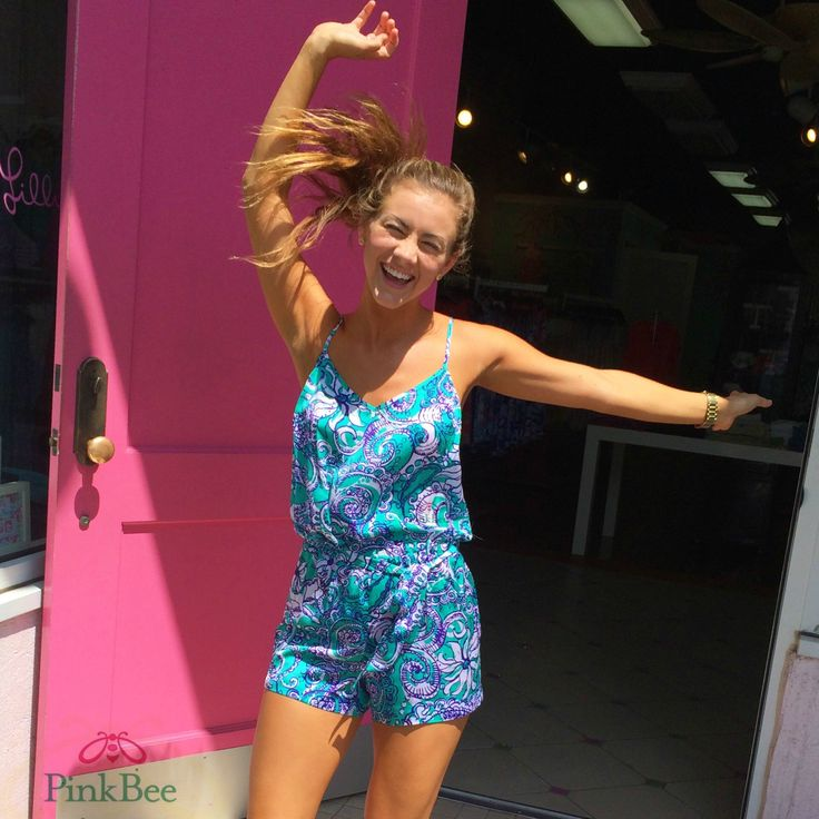 Pink Bee | Lilly Pulitzer Romper