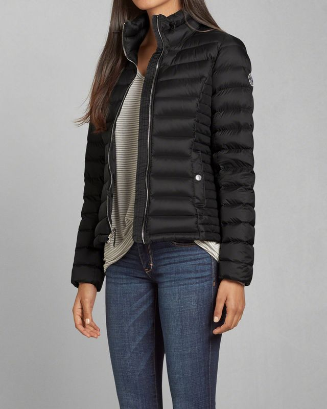 Womens A&F Down Series Lightweight Puffer Jacket | Womens Outerwear & Jackets | Abercrombie.com