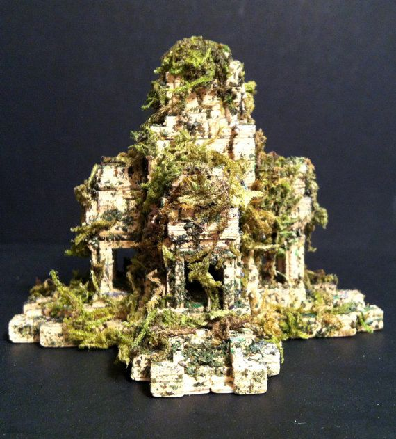 3D Printed Ruined Temple, Ancient Ruin,Fantasy Miniature,Medieval Tabletop Piece,Fantasy Tabletop Miniature,Dungeons And Dragons Miniatures