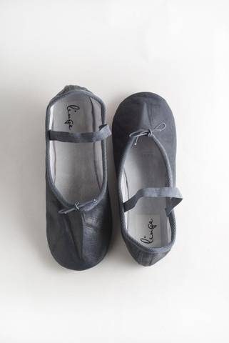 Navy Ballet Shoe by Linge Shoes, $59