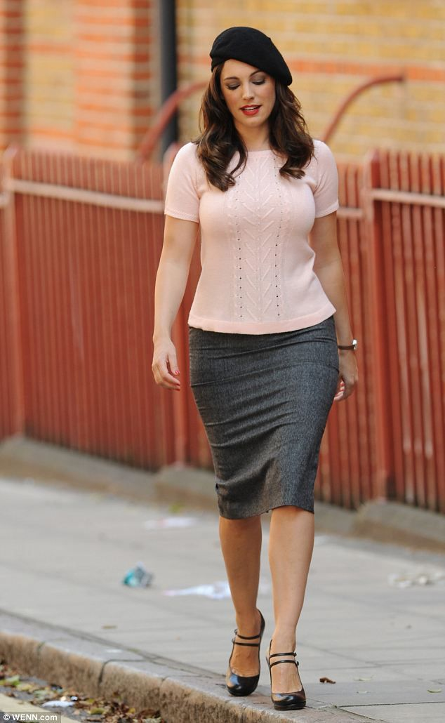 Kelly's Brook look: The star wears a beret in one of her retro-inspired outfits in the film