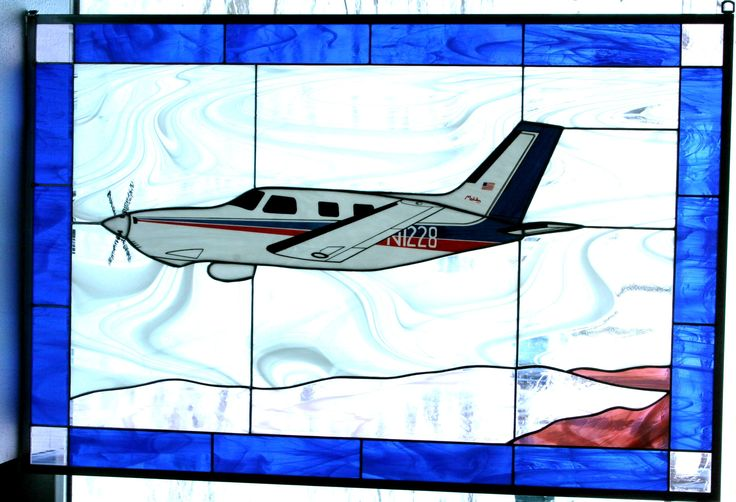 Piper PA-46 -- stained glass window panel.