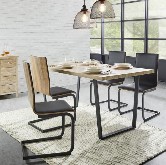Esstisch In Natur Und Schwarz Jetzt Online Kaufen Esstisch Tisch Haus Deko