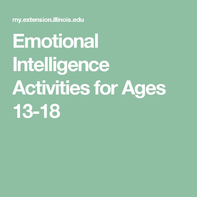 Emotional Intelligence Activities for Ages 13-18