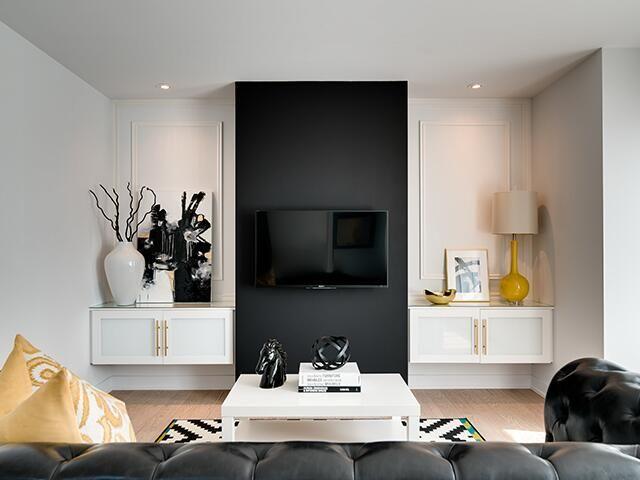 Home Decorating Ideas Recipes Living Room Tv Wall Black Accent Walls Living Room Tv