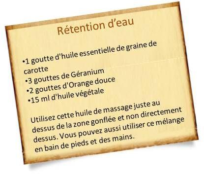 huile essentielle carotte rétention d'eau