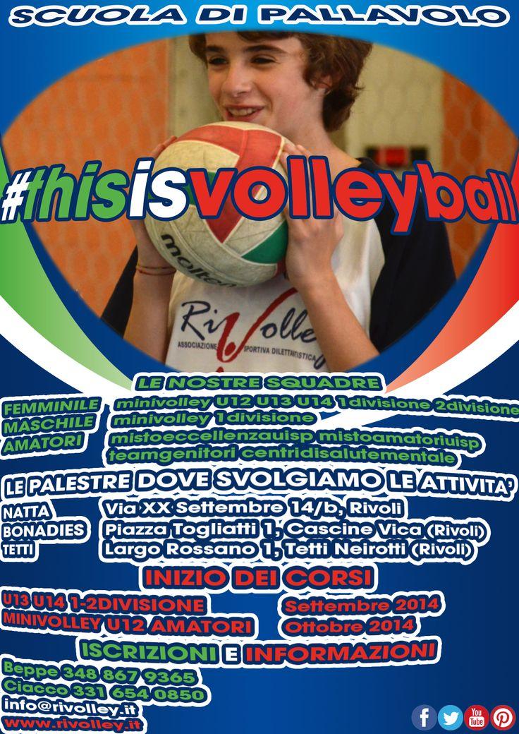 Scuola di Pallavolo:  Minivolley  Under 12  Under 13  Under 14  Prima Divisione Femminile  Seconda Divisione Femminile  Prima Divisione Maschile  Misto Eccellenza Uisp  Misto Amatori Uisp  Team Genitori  Centri di Salute Mentale  Info:  Beppe +39 348 867 9365  Ciacco +39 331 654 0850  info@rivolley.it  www.rivolley.it  #rivolley #rivoli #volley #pallavolo #fipav #uisp #thisisvolley  #nonesistesoloilcalcio #norivolleynopallavolo #love  #followme  #goodtime #like #happy  #friends #sapevatelo