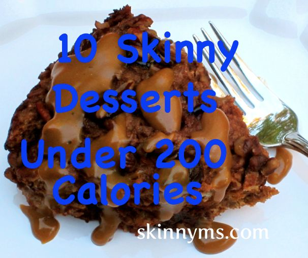 Enjoy a skinny dessert once a week! love this site, has so many other low cal options:)