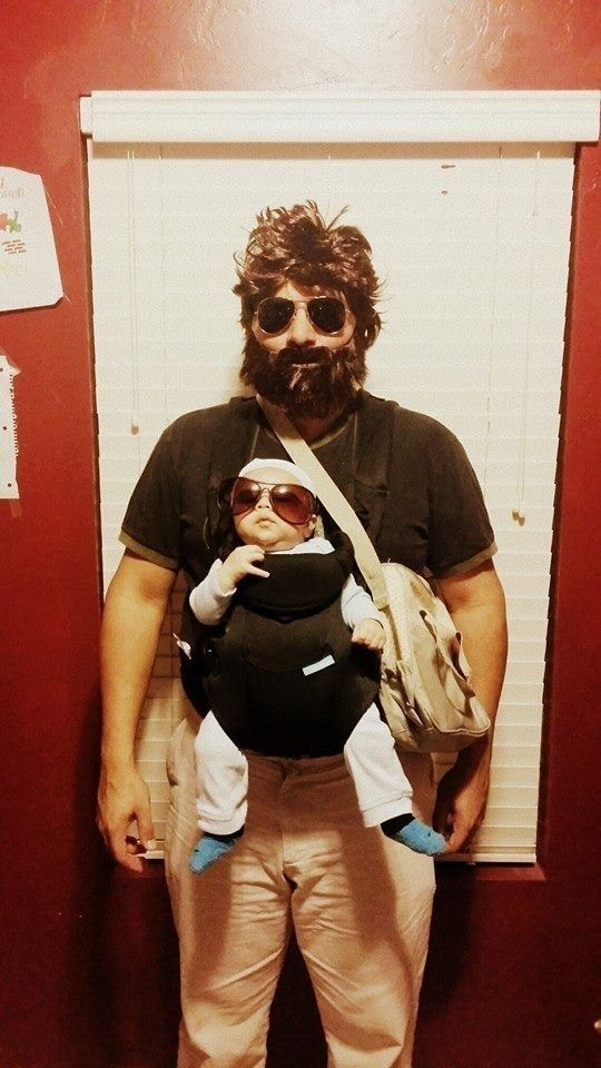 Alan and baby Carlos from The Hangover | 25 Family Halloween Costumes That'll Convince You To Have Kids