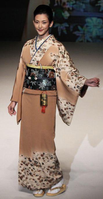 # 8: Yukiko Hanai designed this silk kimono and obi. 2012, Japan