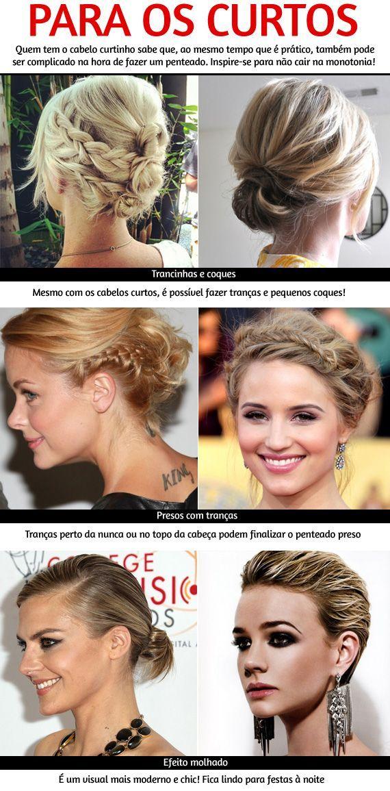 Penteados para cabelos curtos!