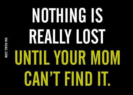 Nothing is really lost