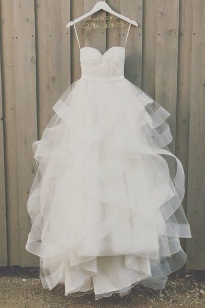 Custom made organza wedding dress