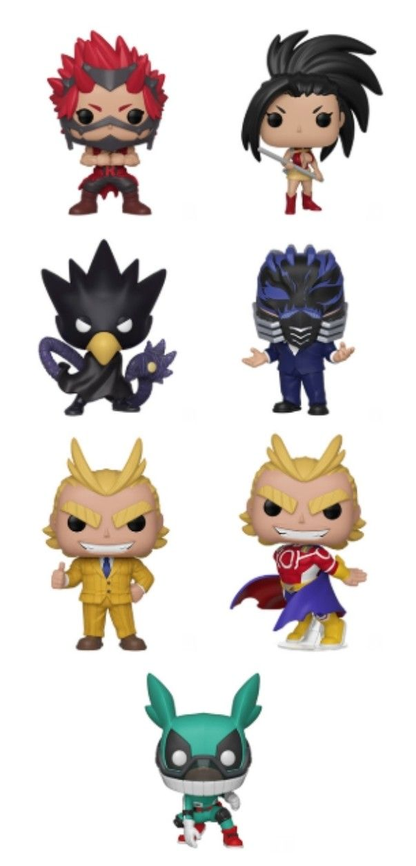 My Hero Academia Funko Pop Kirishima Tokoyami Yaoyorozu All For One All Might Teacher All Might Silver Age Metallic My Hero Academia My Hero Funko