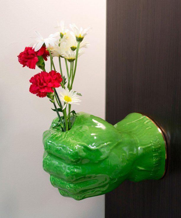 """Brett Kern, """"Hulk Hand Flower Vase"""""""