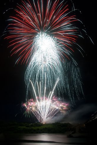 Canada Day Fireworks 2012 ~ Saskatoon image by Peter Evans