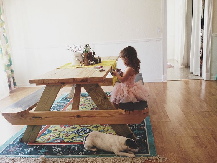 24 best Outside In: picnic table indoors images on Pinterest ...