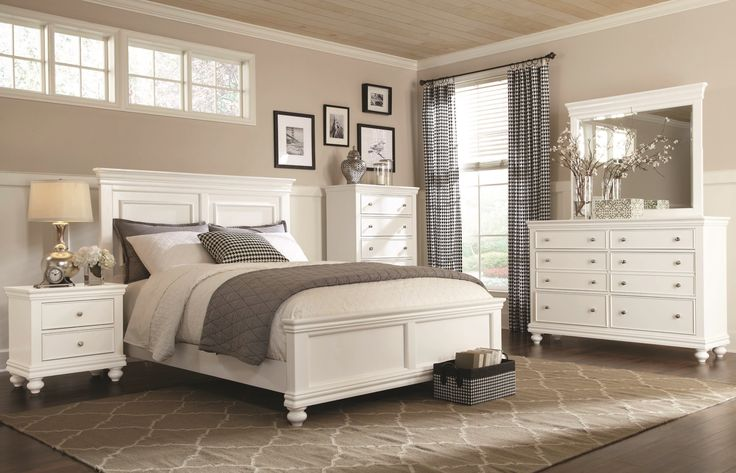 Clearance White 4 Piece Queen Bedroom Set Essex Bedroom