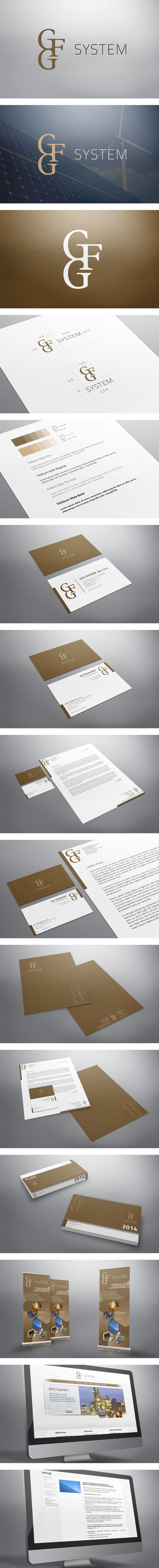 Corporate Identity for GFG SYSTEM. Project included brand new logo and cohesive print design: business cards, letterhead, callendar, roll-up and files.