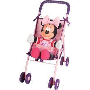 Carrinho de Boneca Multibrink Minnie Passeio Bowtique com Boneca Minnie, lindo carrinho com a miniatura da personagem Minnie para a diversão de sua filha.    Acompanha uma Boneca Minnie e um Carrinho Passeio de boneca.