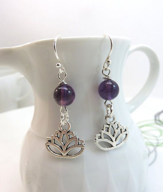 Hey, I found this really awesome Etsy listing at https://www.etsy.com/listing/462338209/purple-amethyst-earrings-silver-lotus