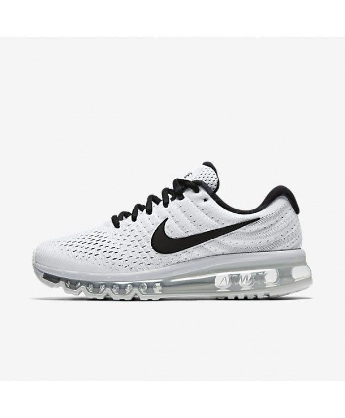 Nike Air Max 2017 Womens White Pure Platinum Black Shoes Outlet ... f3aa1f8d9507