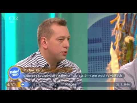 Michal Bláha na téma: jištění osob při práci ve výšce, Carl Stahl v Dobrém ránu na ČT2