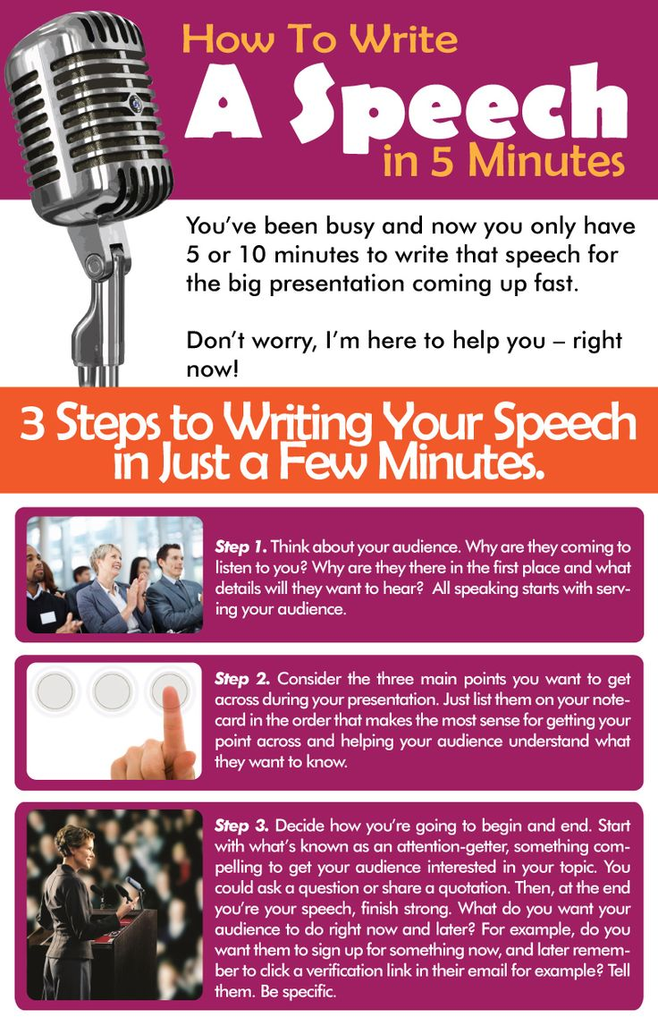 How to write a speech in 5 minutes.