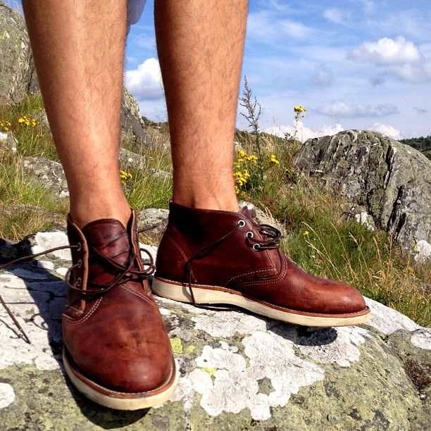 Red Wing Chukka's in the mountains